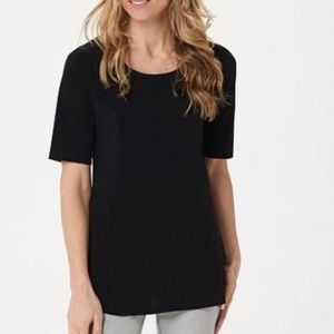 Susan Graver Liquid Knit Modern Fit and Flare Top